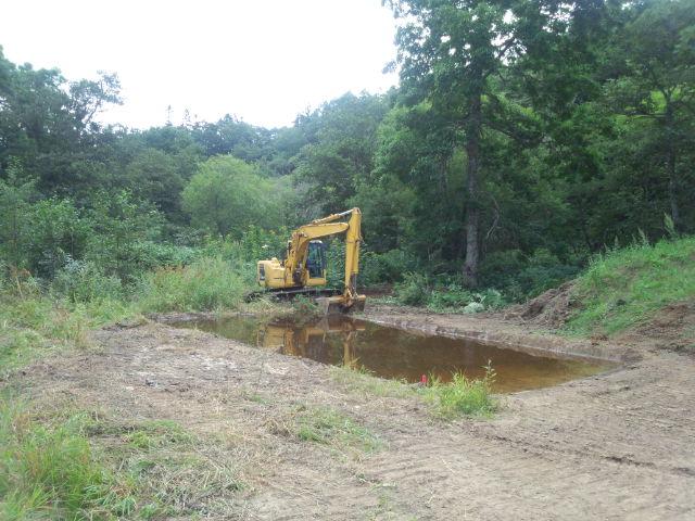 実験池の掘削
